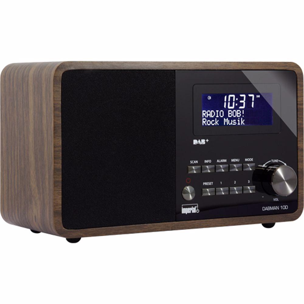 Imperial DAB+ radio Dabman 100 (Hout)