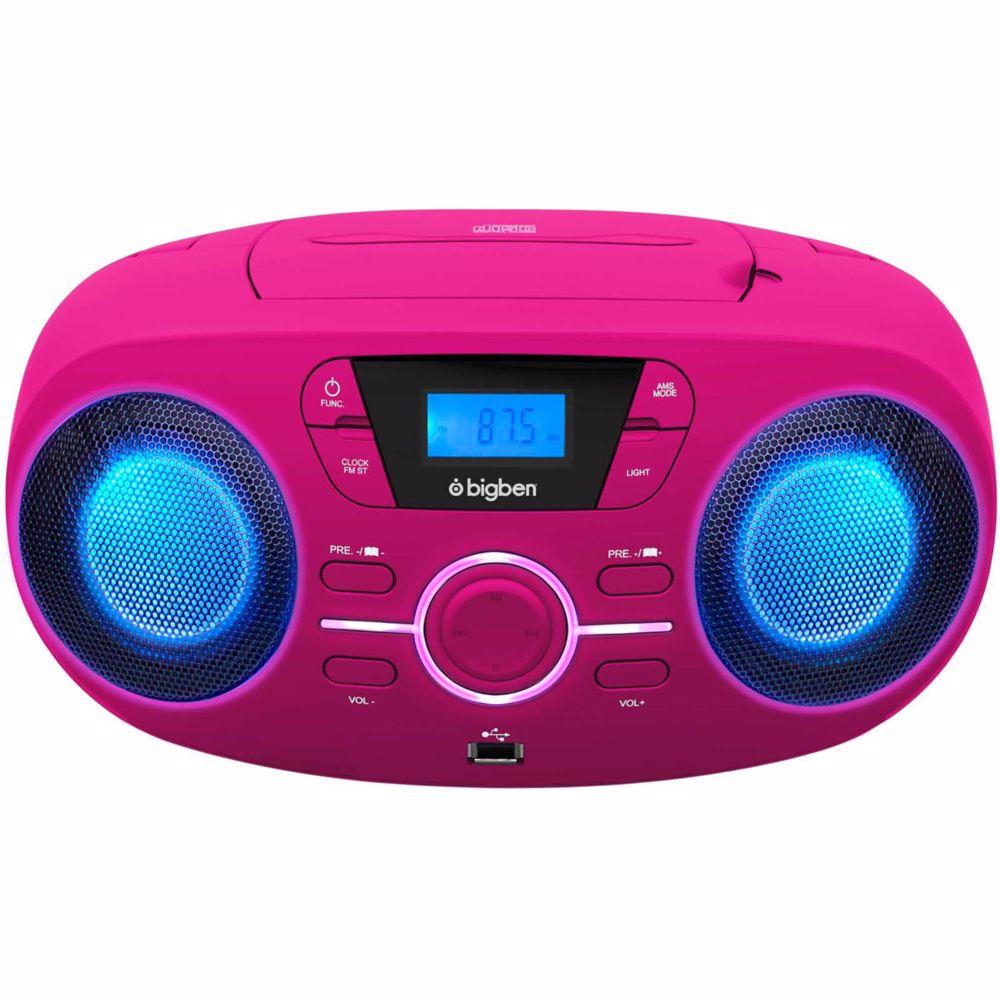Bigben radio/CD speler CD61RSUSB (Roze)