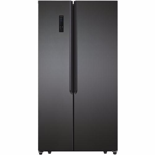 Exquisit Amerikaanse koelkast SBS135-040FDI (Donkergrijs) 4016572409499