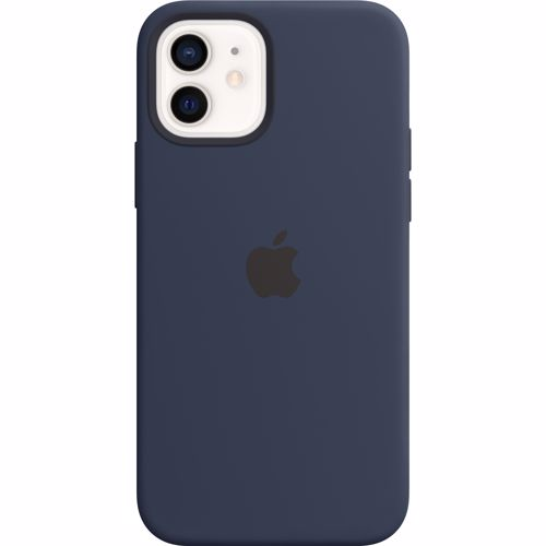 iPhone 12-12 Pro Apple Siliconen Hoesje met MagSafe MHL43ZM-A Donkermarineblauw