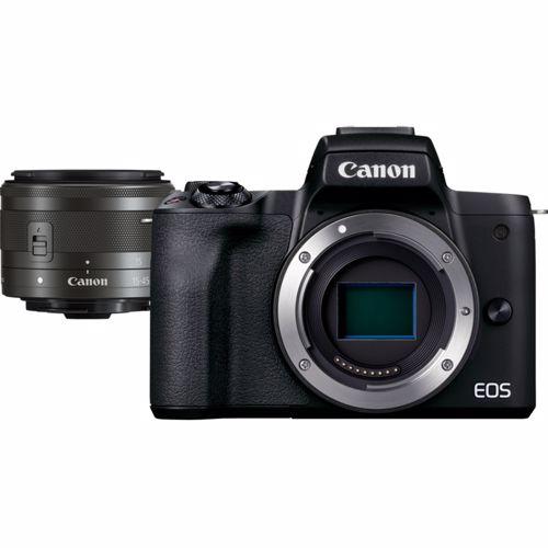 Canon EOS M50 Mark II Zwart + EF-M 15-45mm f-3.5-6.3 IS STM Zwart