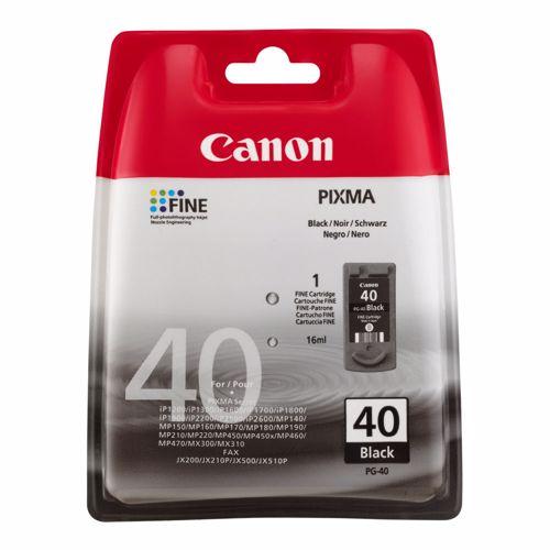 Canon cartridge PG-40 BK (zwart)