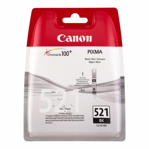 Canon cartridge CLI 521 BK zwart