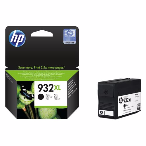 HP XL cartridge 932 XL BK zwart