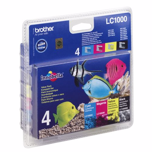 Brother cartridge voordeelpak LC1000 XL BK 3CL